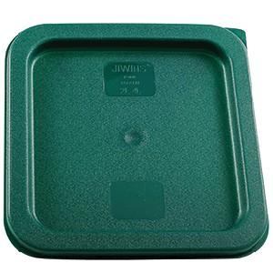 Крышка для контейнера зеленая на 2л и 4л полиэтилен; H=15, L=187, B=187мм, ProHotel
