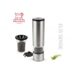 Мельница для перца электрическая (на батарейках) «Elis Sense u'Select» металлический механизм; акрил, сталь нержавеющая ; H=20см, D=5.5 см