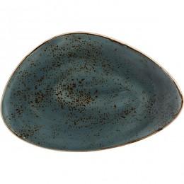Блюдо «Крафт»; фарфор; H=35, L=370, B=240мм; синий