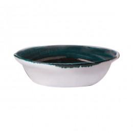 Блюдо для запекания  овальная  «Крафт»; фарфор; 370мл; H=55, L=155, B=105мм; синий