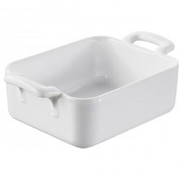 Сковорода порционная  прям. «Бель Кузин»; фарфор; 330мл; H=60, L=160, B=95мм; белый
