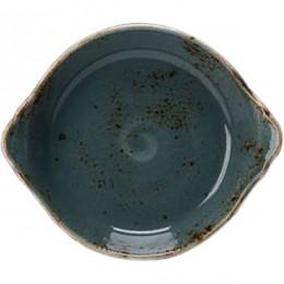 Блюдо для запекания  «Крафт»; фарфор; D=185, H=45мм; синий